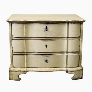 Small Danish Baroque Painted Wooden Chest of Drawers, 1760s