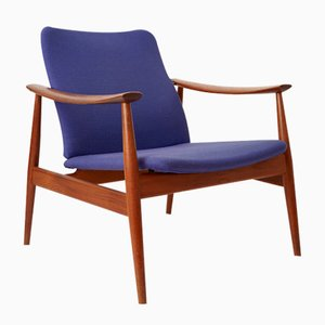 Mid-Century Model 138 Easy Chair by Finn Juhl for France & Søn