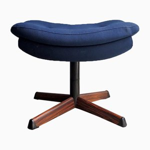 Vintage Blue Fabric Swiveling Ottomon from Møbler Nassjo