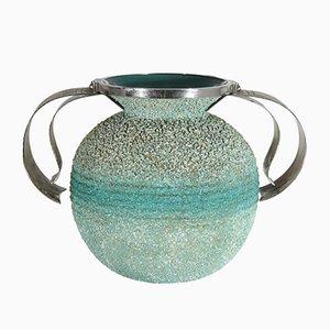Italian Art Deco Ceramic Vase, 1930s