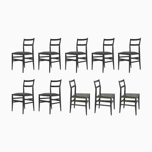 Leggera No. 646 Chairs by Gio Ponti for Cassina, 1952, Set of 10