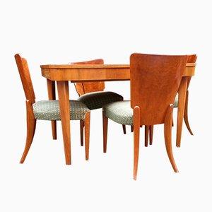 Art Deco Model H 214 Dining Set By Jindrich Halabala