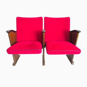 Vintage Red Velvet Cinema Seats