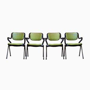 Vintage Stühle von Giancarlo Piretti & Emilio Ambasz für Castelli, 4er Set