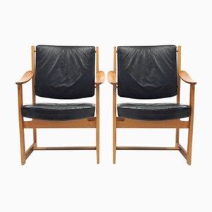 Armchairs by Sven Kai Larsen for Nordiska Kompaniet, 1960s, Set of 2