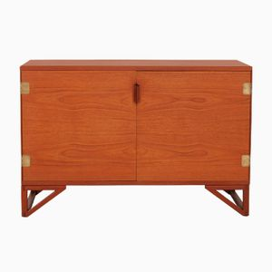 Low Teak Sideboard with China Legs by Svend Langkilde for Langkilde, 1970s