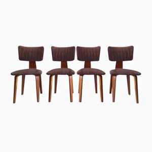 Mid-Century Dining Chairs by Cor Alons & J.C. Jansen for Den Boer Gouda, Set of 4