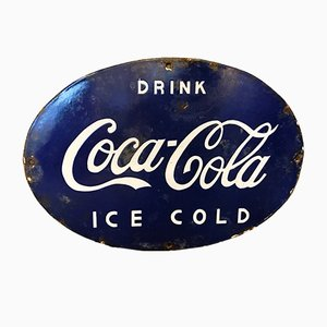 Enameled Indian Coca Cola Sign, 1950s