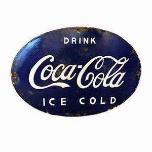 Insegna Coca Cola smaltata, India, anni '50