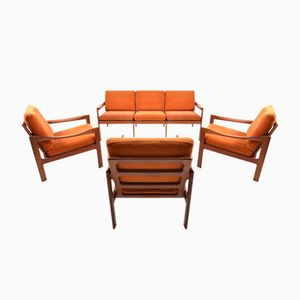 Vintage Teak Living Room Set by Illum Wikkelsø for Niels Eilersen