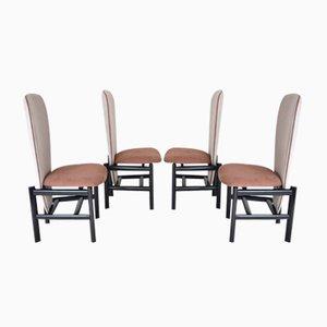 Niederländische Mid-Century Esszimmerstühle, 4er Set