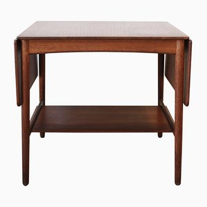 Mid-Century Drop Leaf Side Table by Hans Wegner for Andreas Tuck