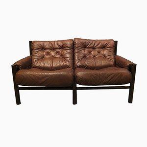 Mid-Century Safari Two-Seater Sofa by Torbjørn Afdal for Bruksbo
