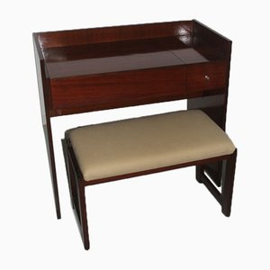 Rosewood Vanity Desk & Stool from MIM, 1960s