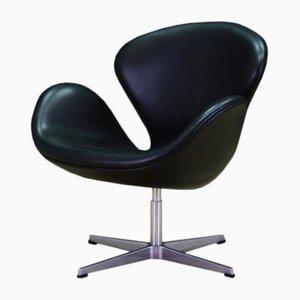 Schwarzer Swan Chair von Arne Jacobsen für Fritz Hansen, 1982