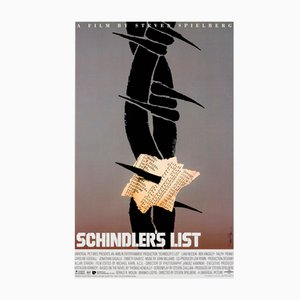 Vintage American Schindler's List Special Poster by Saul Bass, 1993