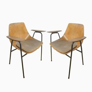 Vintage Armchairs by Pierre Guariche, Set of 2