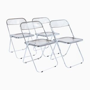 Vintage Pila Chairs by Giancarlo Piretti for Castelli, Set of 4