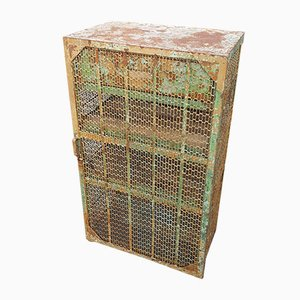 Industrial Mesh Tool Cabinet, 1930s