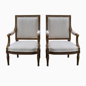 Antique Gustavian Bergère Chairs, Set Of 2