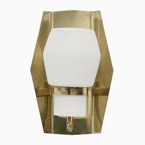 Large Wall Light in Brass by Jonas Hidle for Høvik Verk, 1960s