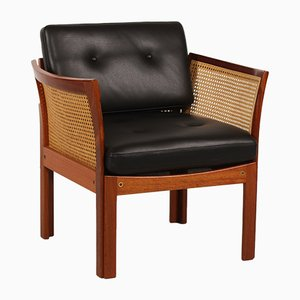 Danish Plexus Easy Chair in Mahogany by Illum Wikkelsø for C. F. Christensen, 1960s