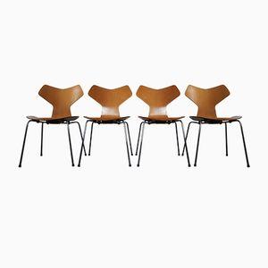 Model 3130 Grand Prix Chairs by Arne Jacobsen for Fritz Hansen, 1974, Set of 4