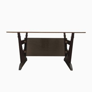 Vintage Brown Glass Dining Table