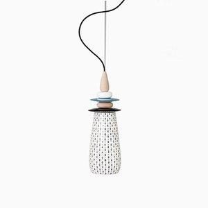 Mini Lampe Forbidden Fruit en Céramique Blanche par Glimpt pour Potters Workshop