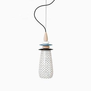 Kleine Weiße Forbidden Fruit Keramiklampe von Glimpt für Potters Workshop