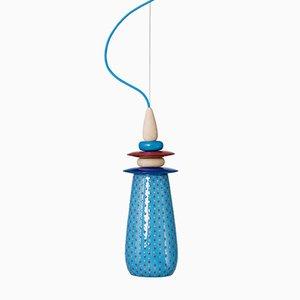 Kleine Blaue Forbidden Fruit Keramiklampe von Glimpt für Potters Workshop