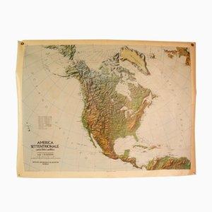 Carte des Etats-Unis d'Amérique Réversible, Italie,1976