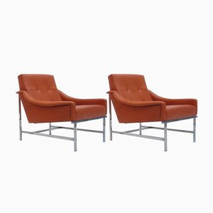 Leather Lounge Chairs by Pieter De Bruyne for Arflex, 1961, Set of 2