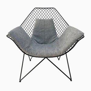 Skulpturaler Vintage DU43 Armlehnstuhl von Gastone Rinaldi für Rima