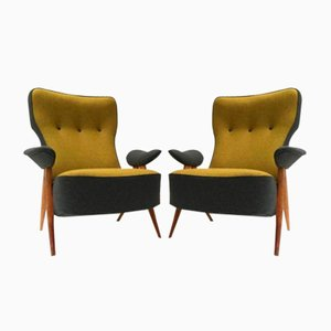 Model 105 Hair Pin Easy Chairs by Theo Ruth for Artifort, 1957, Set of 2