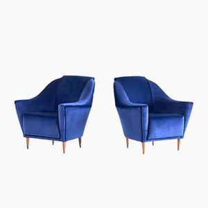 Armchairs by Ico Parisi for Ariberto Colombo, 1950s, Set of 2