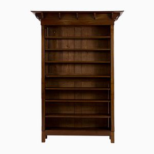 Mahogany Dutch Art Nouveau Open Bookcase, 1900s