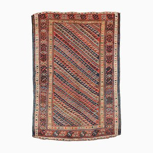 Antique Persian Kurdish Handmade Rug, 1860s