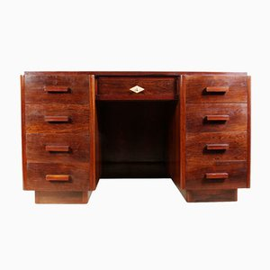 French Art Deco Desk in Rosewood, 1920s