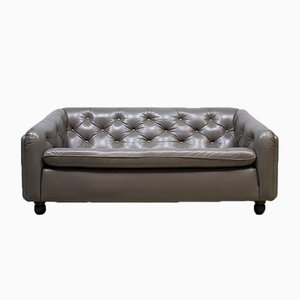 Vintage Leather Sofa by Geoffrey Harcourt for Artifort