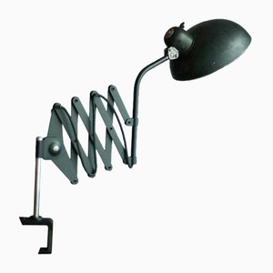 Scissor Lamp with Clamp by Christian Dell for Helo, 1930s