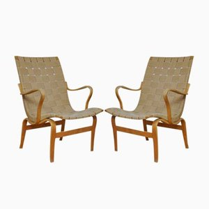 Eva Chairs by Bruno Mathsson for Karl Mathsson, 1973, Set of 2