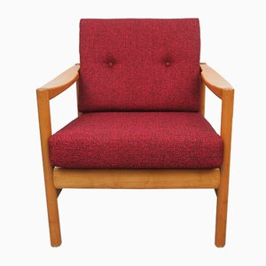 Red Cushioned Armchair, 1960s