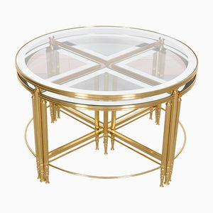 Five-Piece Hollywood Regency Cocktail Table by Maison Jansen, 1960s
