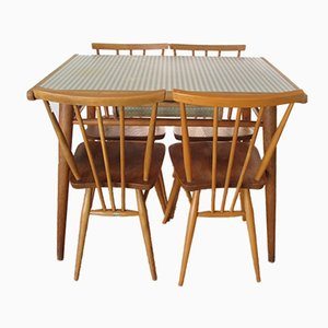 Formica Table and 4 Chairs by Lucian Ercolani for Ercol, 1960s