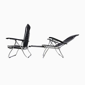 Vintage Italian Folding and Reclining Garden Chairs from Maule, Set of 2