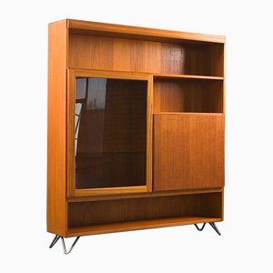 Teak & Glass Display Drinks Cabinet from Mcintosh, 1970s