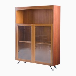 Vintage Nathan Mid-Century Retro Teak Book Case Display Drinks Cabinet