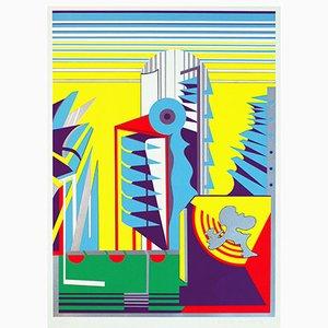Relais Alpha Siebdruck mit 8 Farben von Gerd Struckmeier, 1969