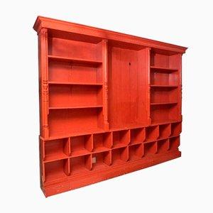 Antique Large Belgian Red Display Cabinet